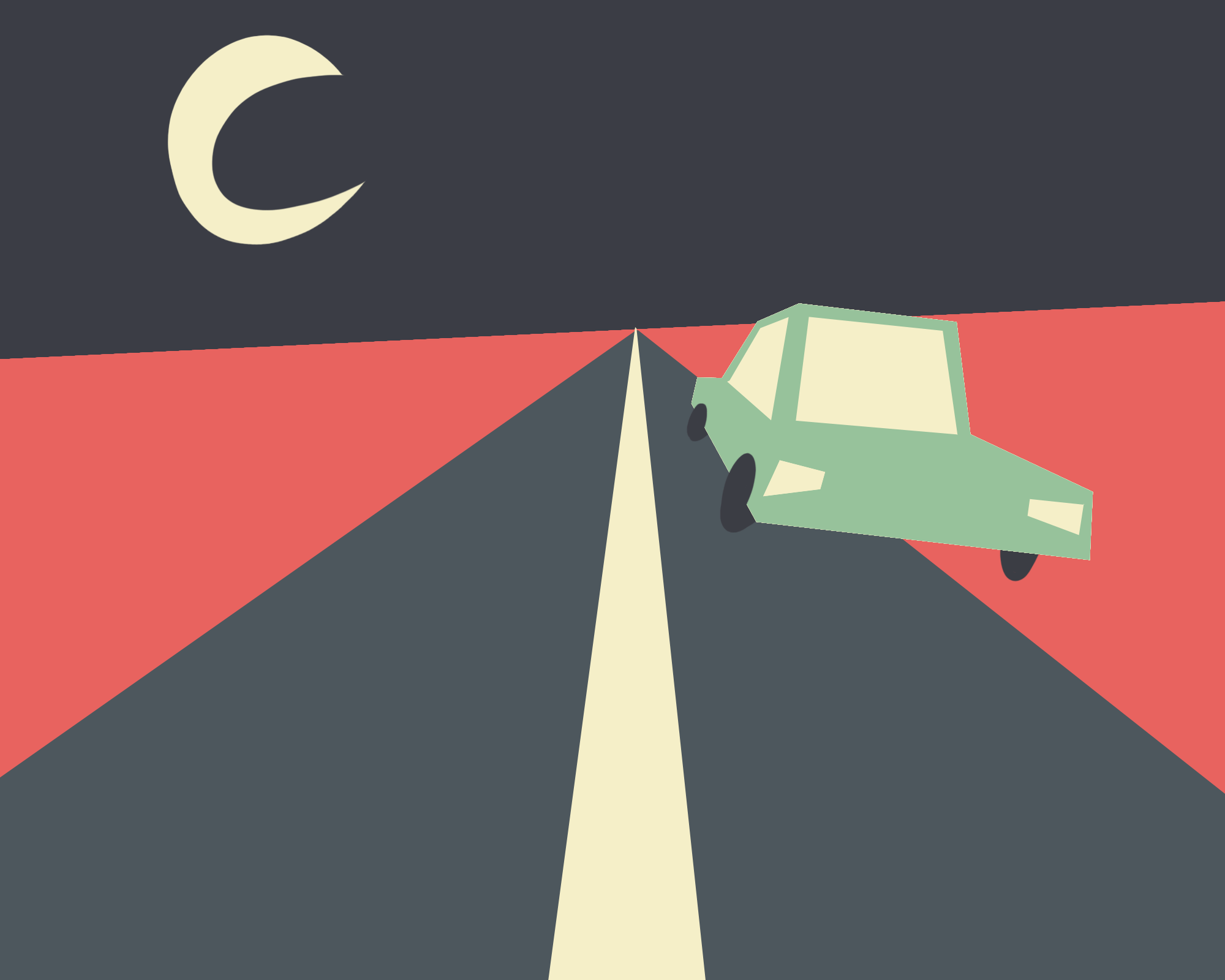 Falling asleep behind the wheel: Drifting from your lane, tailgating, or hitting shoulder strip.