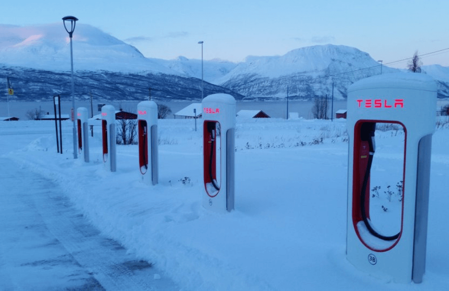 Tesla Supercharger - How Do Electric Cars Perform in the Cold Weather?