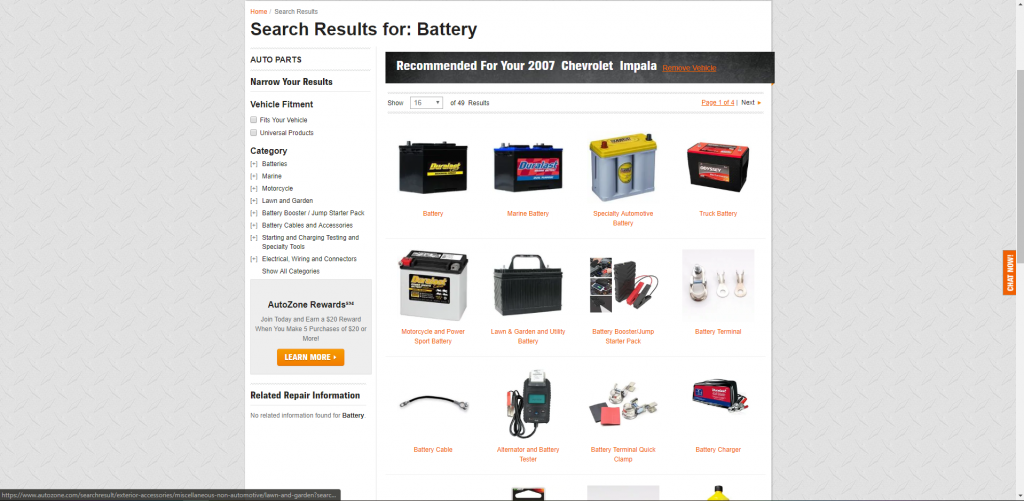 auto zone battery Selection 1024x501 - Car Battery Buying Guide