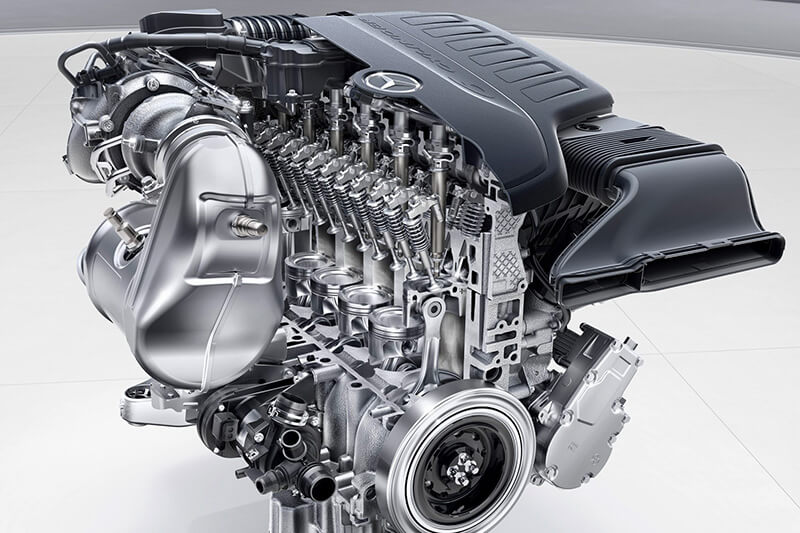 inline engine straight engine - Powertrain: How a Car Engine Works