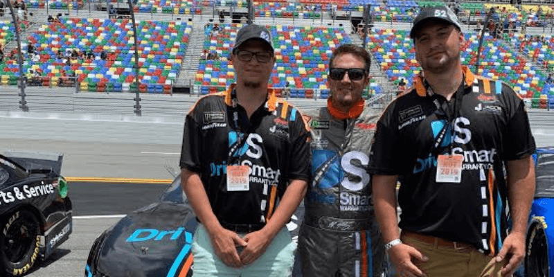 nascar driver - DriveSmart Sponsors J.J. Yeley in Daytona for NASCAR Cup Series