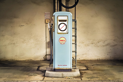 Old fashioned Gas Station Machine