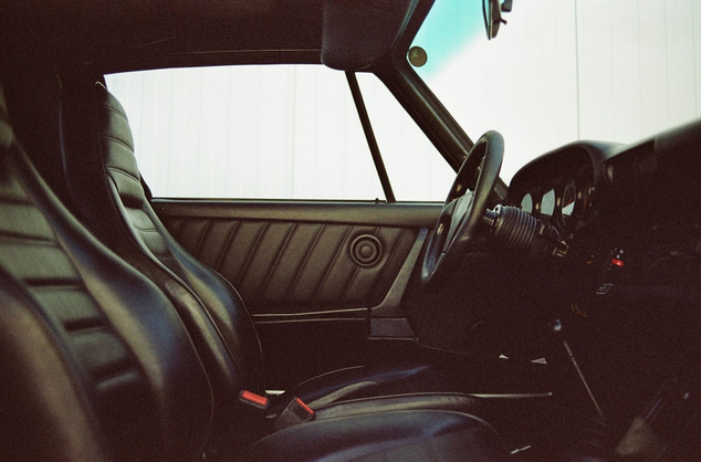 Inside Car with leather seats